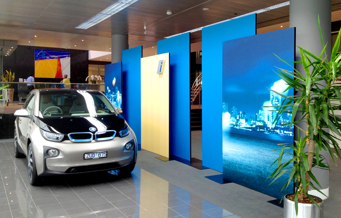 BMW Electric Car Portable Display Panels