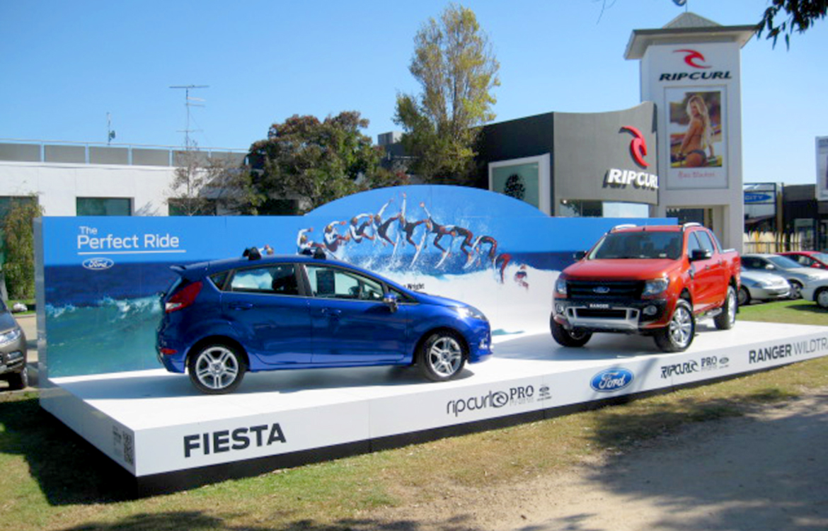 Ford Perfect Ride Outdoor Display