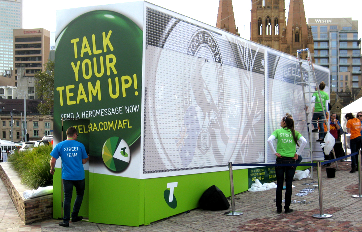 Telstra/AFL Talk your Team Up Installation Federation Square